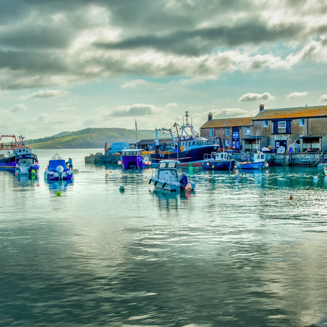 """""""Lyme harbour"""" stock image"""