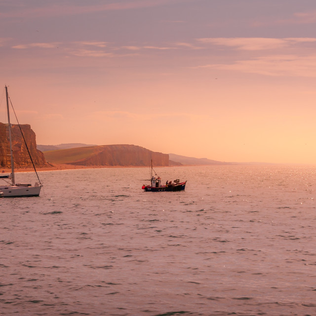 """""""Leaving the harbour"""" stock image"""