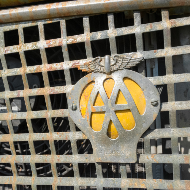 """Automobile Association badge"" stock image"