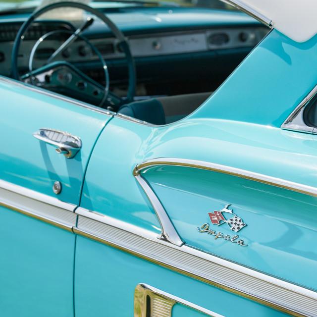 """""""Chevrolet Impala vehicle panel"""" stock image"""