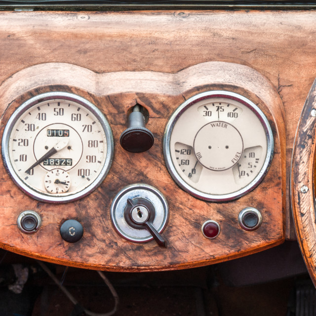 """classic car dashboard"" stock image"