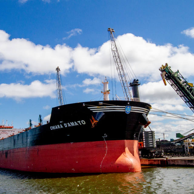 """Swinoujscie, Photographs of a Polish Seaport. Bulk Carrier, Chiara D' Amato."" stock image"
