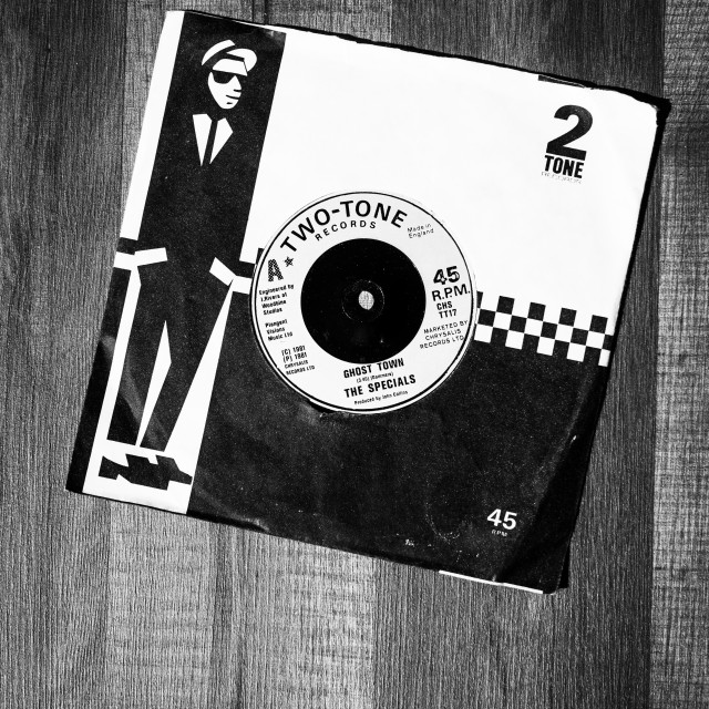 """Ghost Town 7 inch single by The Specials"" stock image"