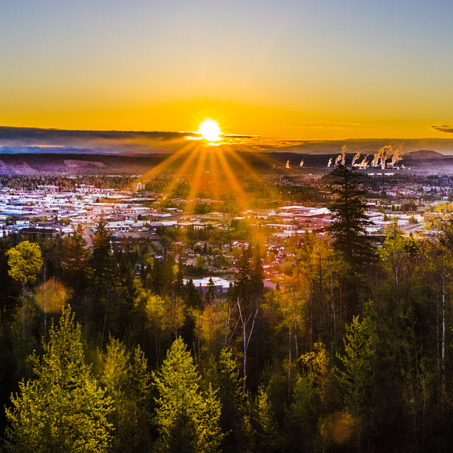 """A Prince George Sunrise"" stock image"
