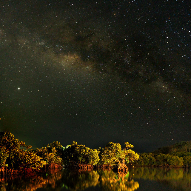"""Milky Way over Coron, Palawan, Phillippines"" stock image"