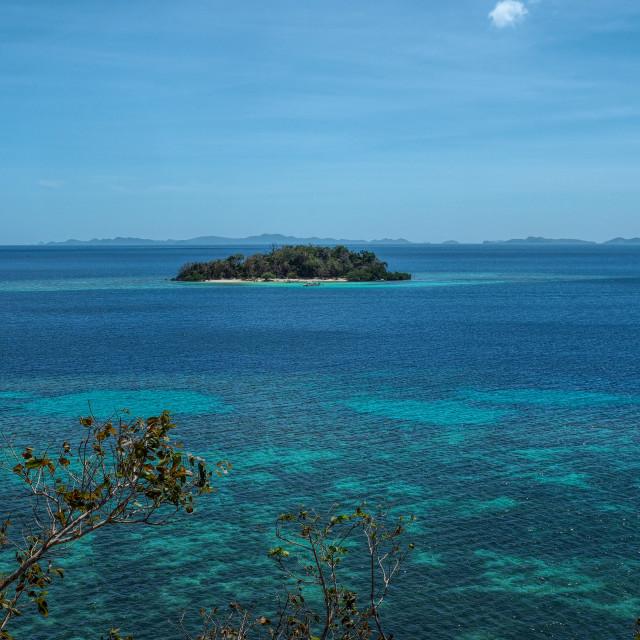 """""""Coron Island II"""" stock image"""
