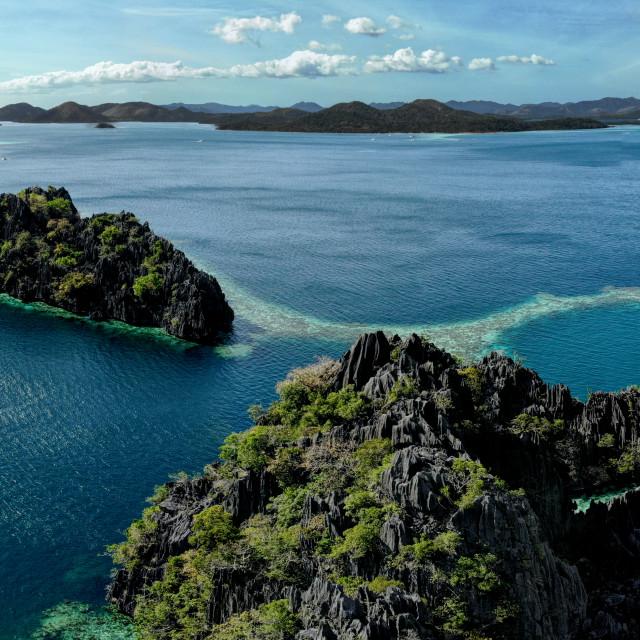 """""""Coron Island III"""" stock image"""