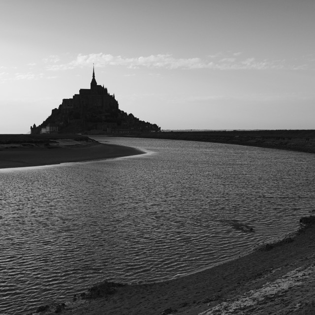 """Le Mont Saint-Michel"" stock image"