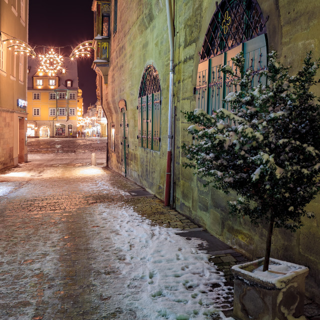 """Wintry streets of Coburg"" stock image"