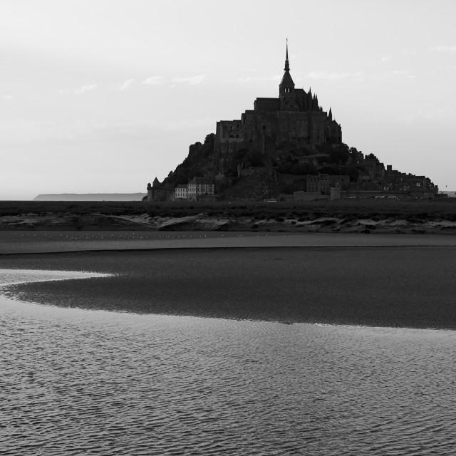 """""""Le Mont Saint-Michel II"""" stock image"""