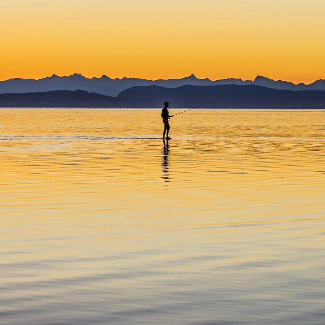 """""""Marine Drive Sunrise"""" stock image"""