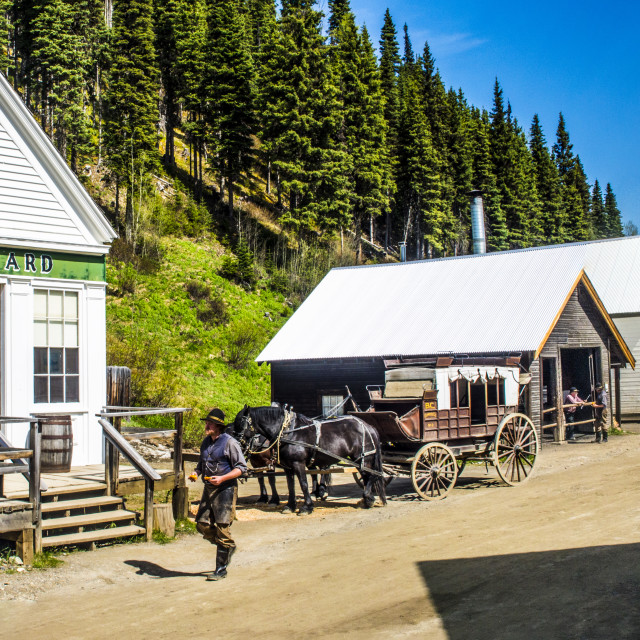 """Barkerville"" stock image"