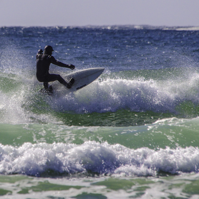 """Surfin'"" stock image"