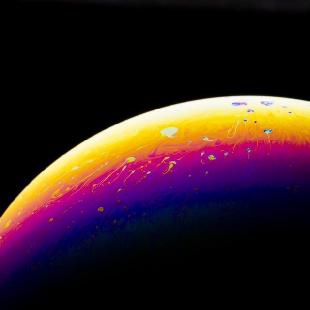 """Half soap Bubble Ball"" stock image"