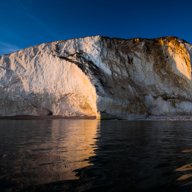 """Seaford head sunset"" stock image"