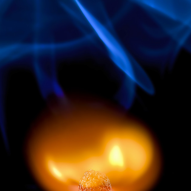"""""""Matchstick Combustion 02"""" stock image"""