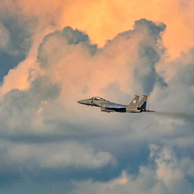 """F-15 Jet Fighter"" stock image"