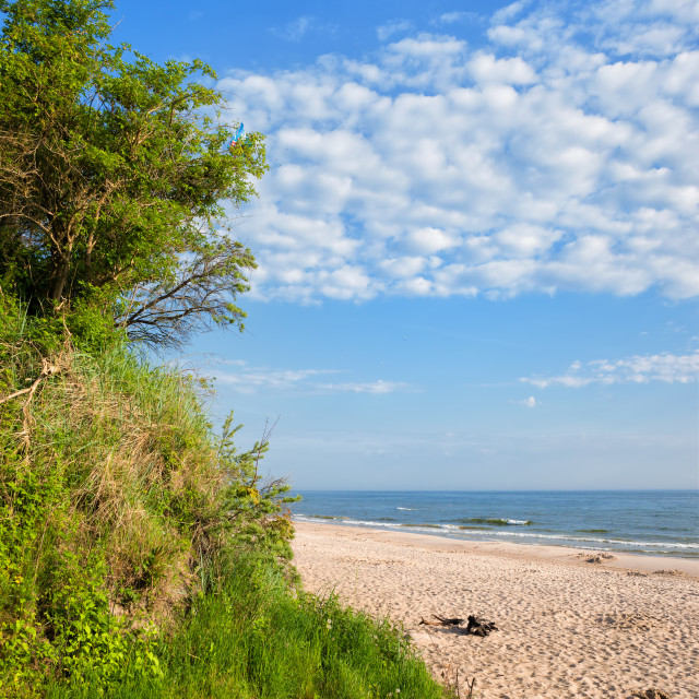 """Beach at Baltic Sea in Wladyslawowo"" stock image"