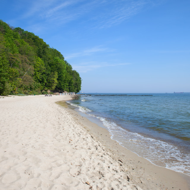 """Baltic Sea Beach in Gdynia"" stock image"