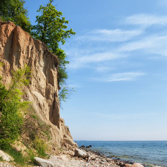 """Orlowo Cliff at Baltic Sea in Gdynia"" stock image"
