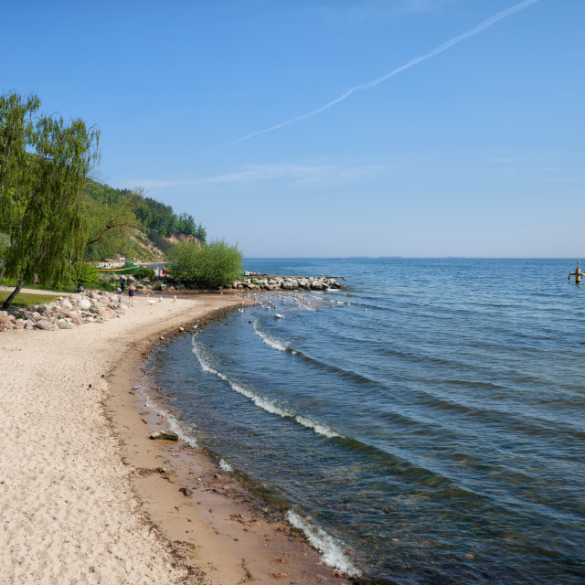 """Beach in Gdynia Orlowo in Poland"" stock image"