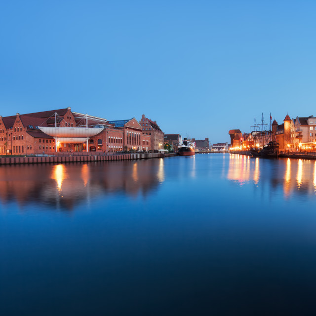 """River View of Gdansk"" stock image"