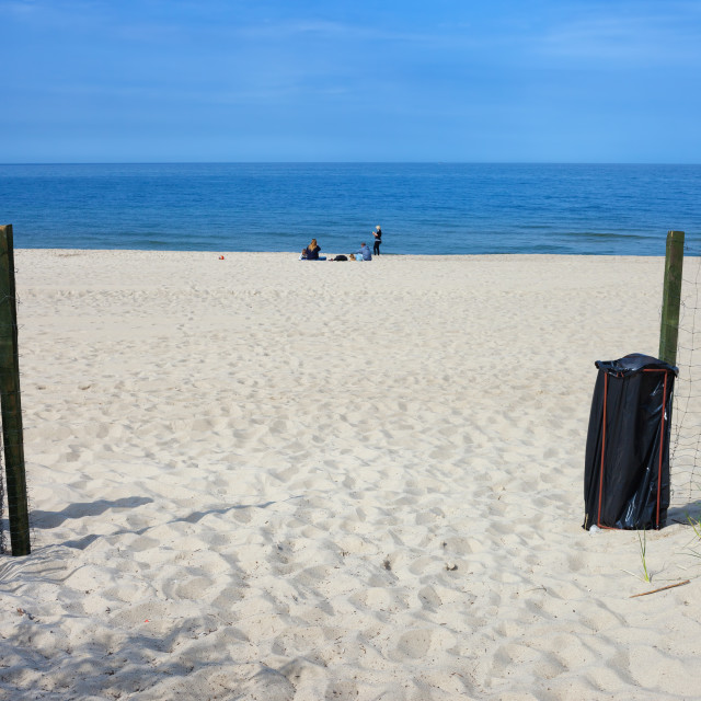 """Entrance to the Beach in Wladyslawowo"" stock image"