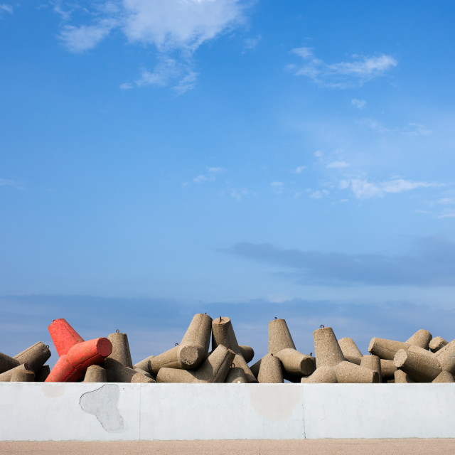 """Sea Breakwater and Be Different Concept"" stock image"