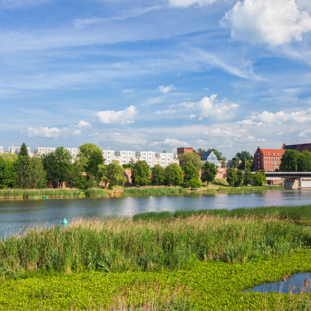 """City Of Malbork River View"" stock image"