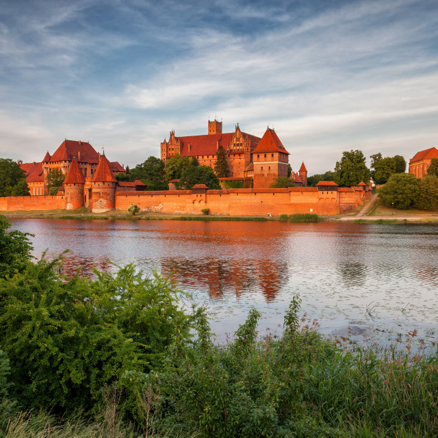 """Malbork Castle in Poland at Sunset"" stock image"