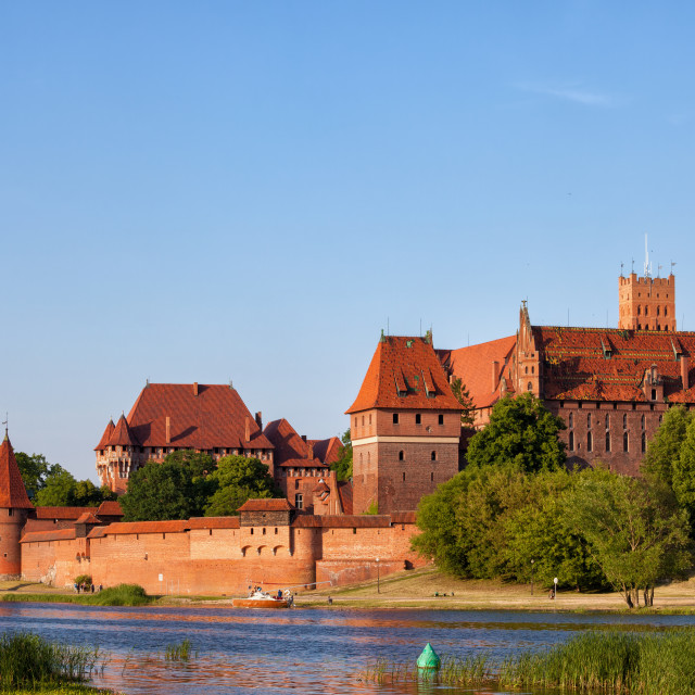 """Malbork Castle at Nogat River in Poland"" stock image"