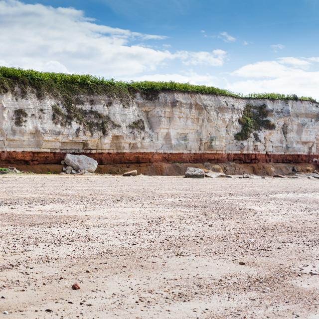 """Hunstanton Cliffs - Norfolk"" stock image"