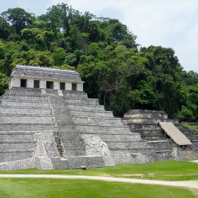 """""""Mayan Ruins in Palenque Mexico"""" stock image"""