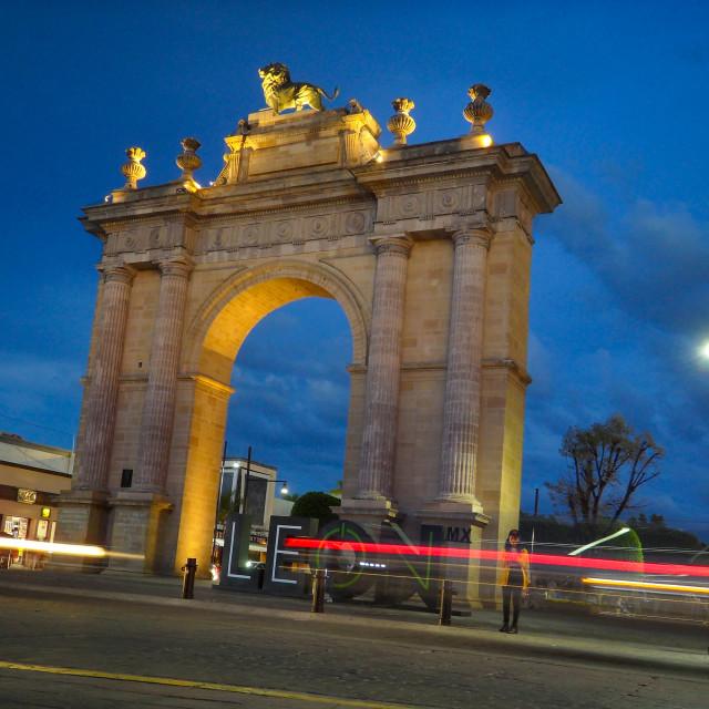 """""""Arco de la Calzada in León Mexico"""" stock image"""