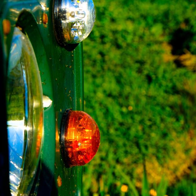 """Land Rover headlight"" stock image"
