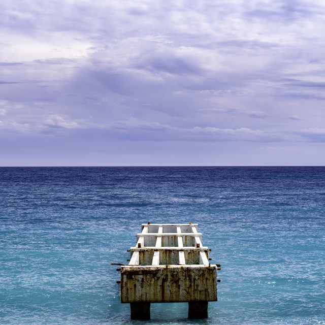 """""""An old pier looking out to the sea"""" stock image"""