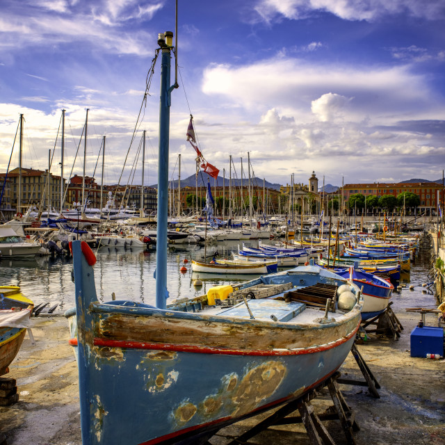 """""""A fishing boat"""" stock image"""