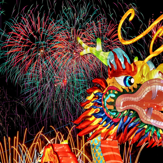 """""""Year of the Dragon 01"""" stock image"""