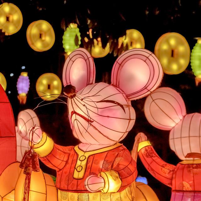 """Year of the Rat Lanterns 01"" stock image"