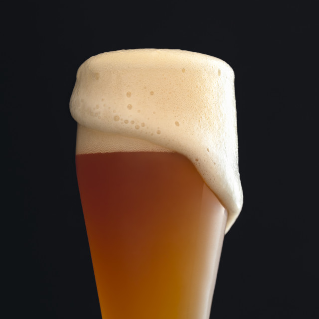 """""""Glass of white beer with foam. German beer"""" stock image"""
