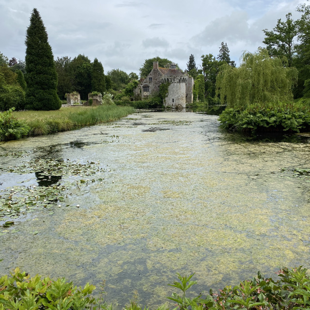 """Cloudy day at Scotney Castle"" stock image"