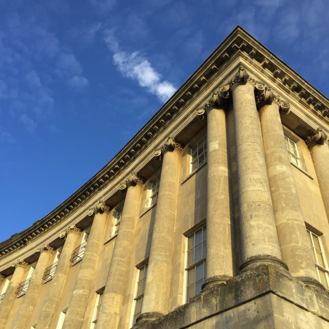 """Royal Crescent, Bath"" stock image"