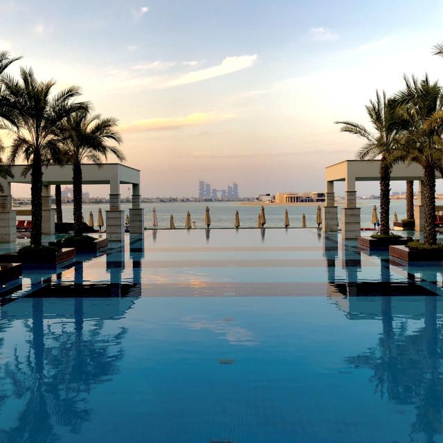 """Pool view, Dubai"" stock image"