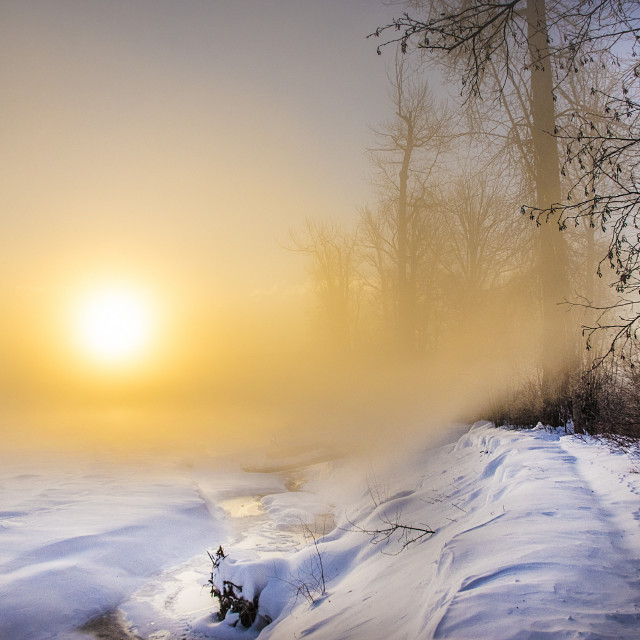 """Cold Sunrise"" stock image"