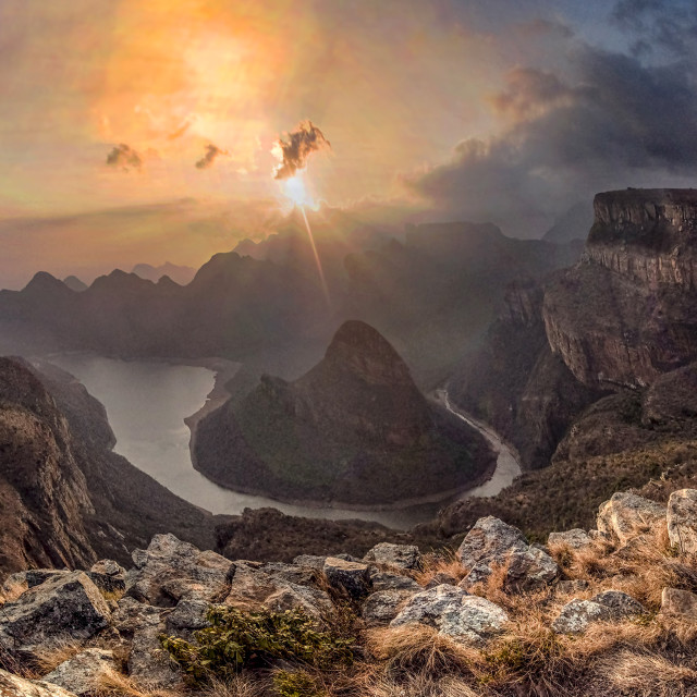 """Blyde River Canyon Sunrise 02"" stock image"