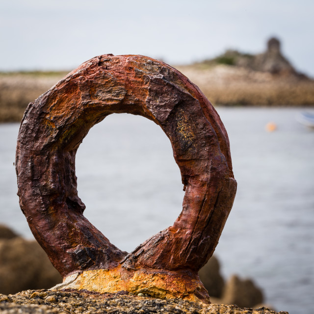 """Rusty Mooring Ring"" stock image"