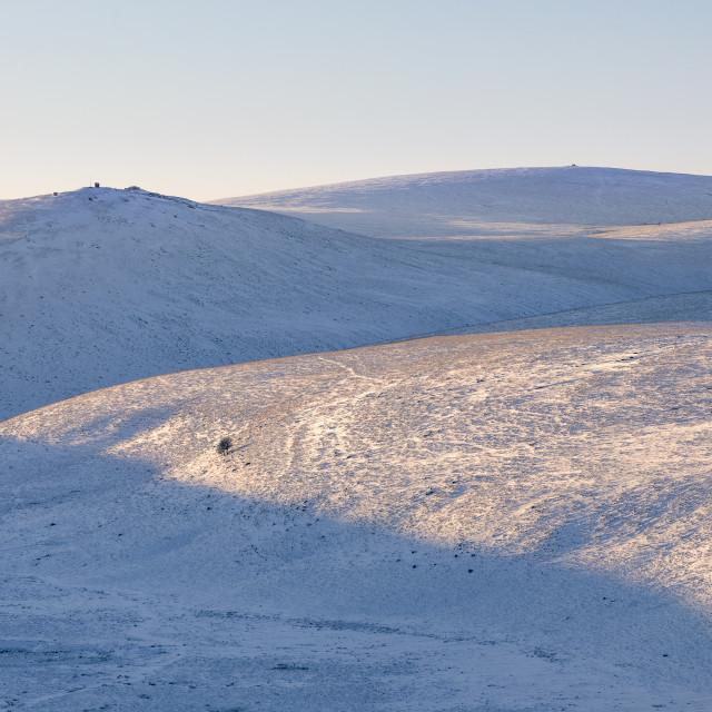 """""""North Dartmoor Snow"""" stock image"""