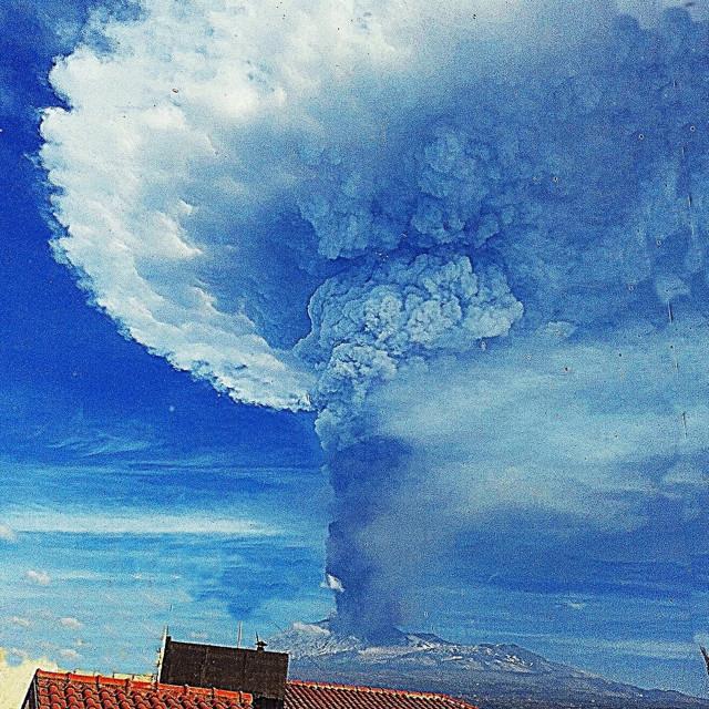 """Etna eruzione"" stock image"