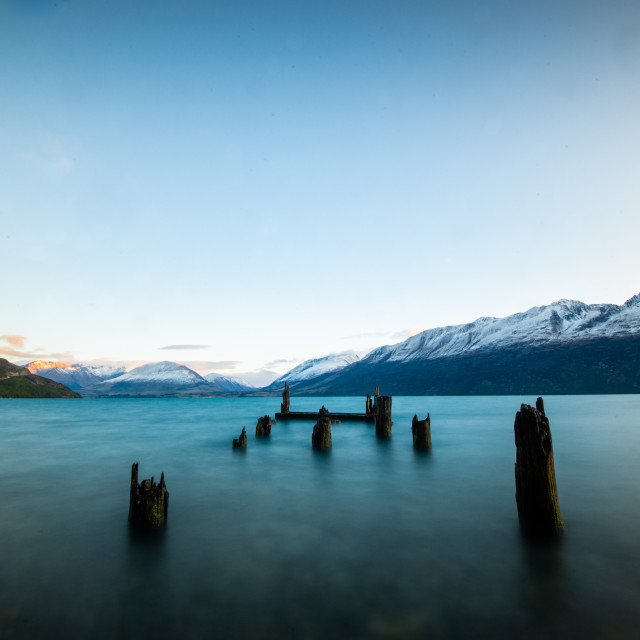 """Old Glenorchy Warf"" stock image"