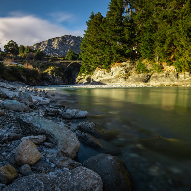 """Shotover River"" stock image"